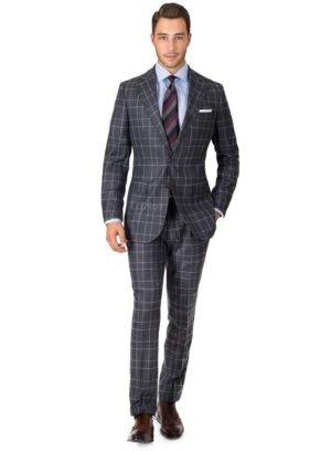 Серый клетчатый фланелевый костюм