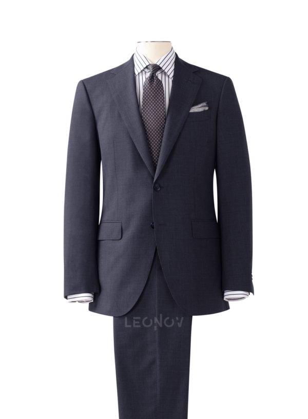 Серо-синий повседневный костюм
