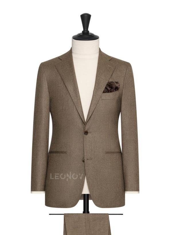 Фланелевый костюм коричневый