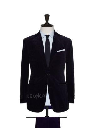 Вельветовый костюм глубокий темно-синий