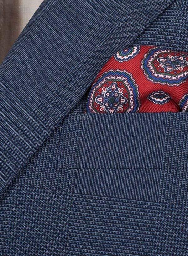 Клетчатый костюм джинсовый синий цвет