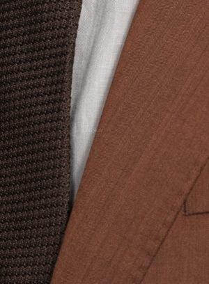 Костюм цвета меди из шерсти и шелка