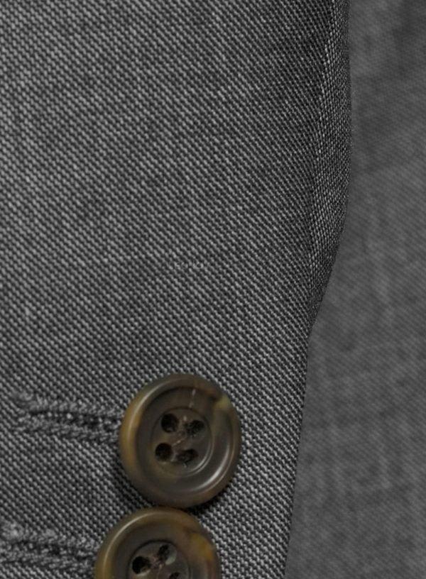 Костюм серый с чередующимся переплетением премиальный