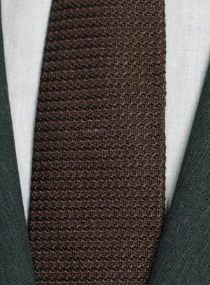 Костюм темно-зеленый из шерсти и шелка премиальный