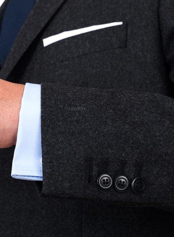 Угольно-серый фланелевый костюм