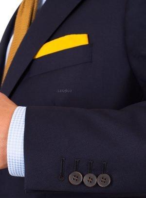 Костюм темно-синий из ткани в рогожку