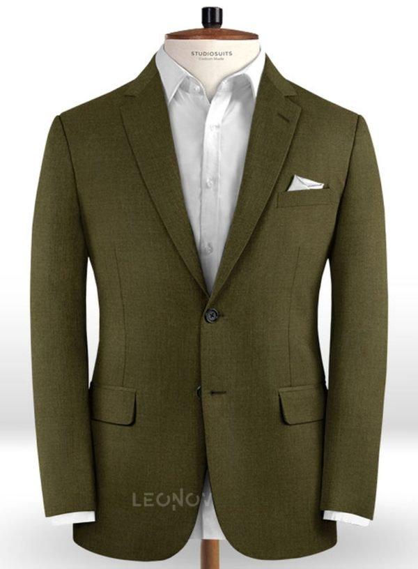 Пиджак темно-зеленый из чистой шерсти – Reda