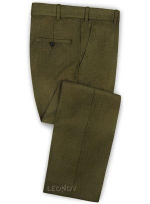 Брюки темно-зеленые из чистой шерсти – Reda
