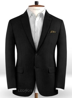 Пиджак черный из чистой шерсти – Reda