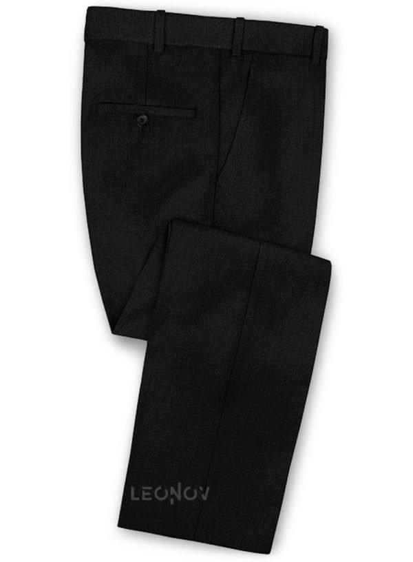 Брюки черные из чистой шерсти – Reda