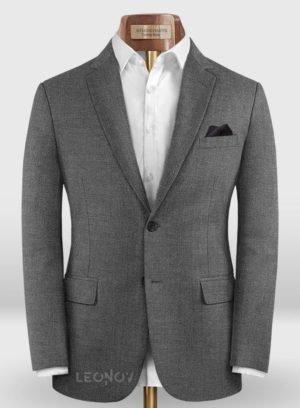 Классический серый пиджак из шерсти и шелка – Reda