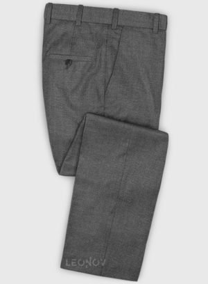Классические серые брюки из шерсти и шелка – Reda