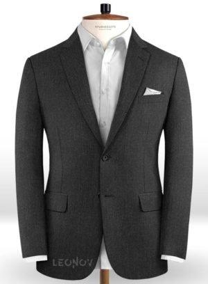 Пиджак из чистой шерсти угольный – Reda