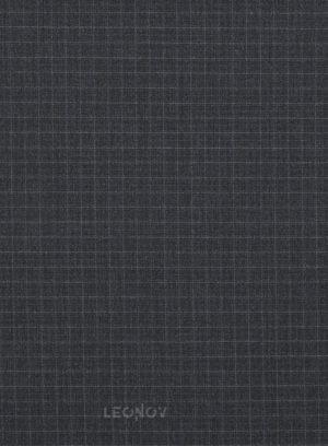Темно-серый деловой костюм в мелкую клетку из шерсти