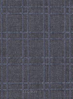 Темно-серый деловой костюм в клетку из шерсти
