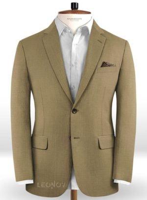 Темно-бежевый пиджак из чистой шерсти – Reda