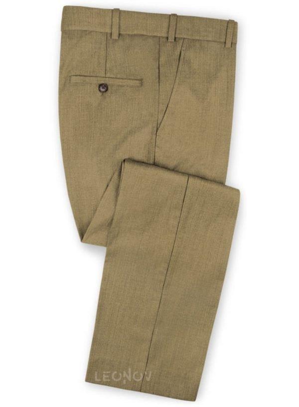 Темно-бежевые брюки из чистой шерсти – Reda