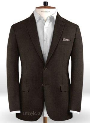 Темно-коричневый пиджак из чистой шерсти – Reda