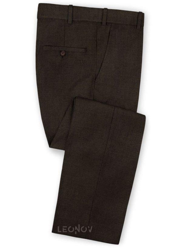 Темно-коричневые брюки из чистой шерсти – Reda