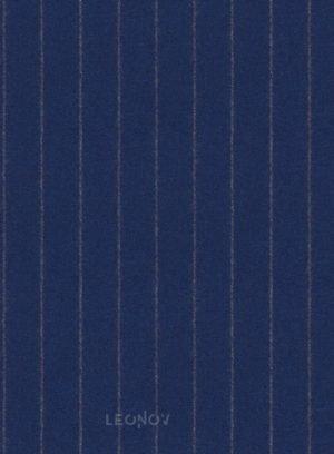 Фланелевый костюм королевский синий в полоску из чистой шерсти