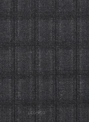 Темно-серый костюм в клетку из шерсти