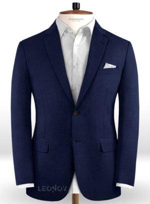 Пиджак цвета сапфировый синий из чистой шерсти – Reda