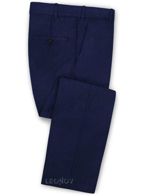 Брюки цвета сапфировый синий из чистой шерсти – Reda