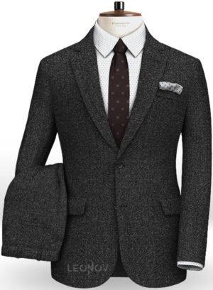 Дымчатый черный костюм из чистой шерсти – Reda