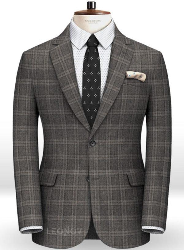 Пиджак серый в клетку из чистой шерсти – Reda