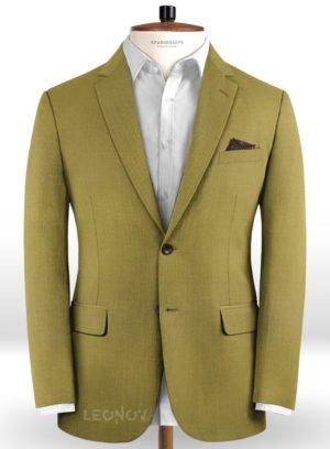Пиджак цвета хаки из чистой шерсти – Reda