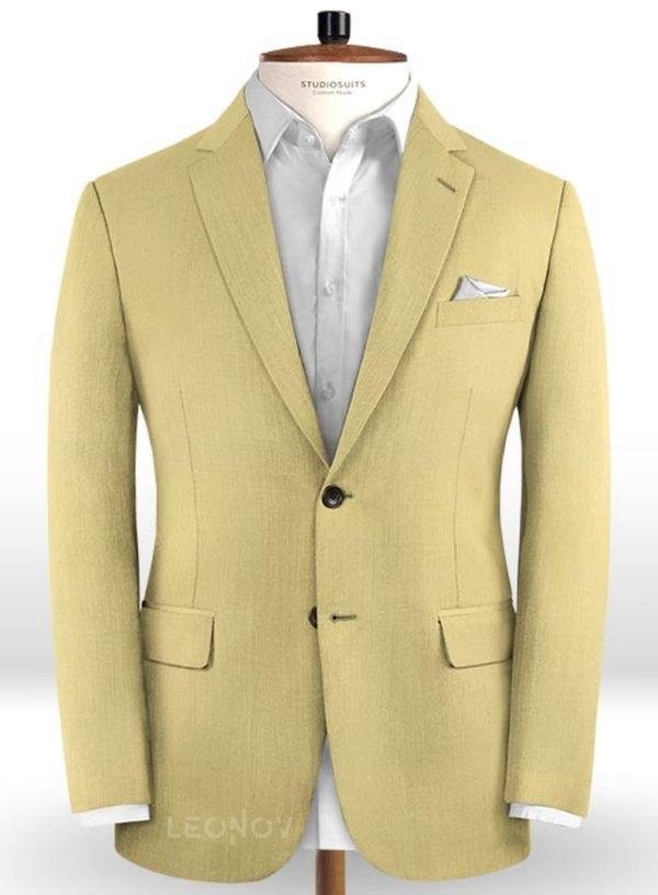 Пиджак из чистой шерсти светлый хаки – Reda