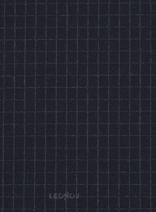 Темно-синий костюм в мелкую клетку из шерсти