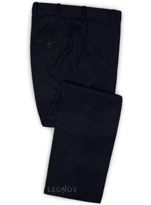 Брюки темно-синие из чистой шерсти – Reda