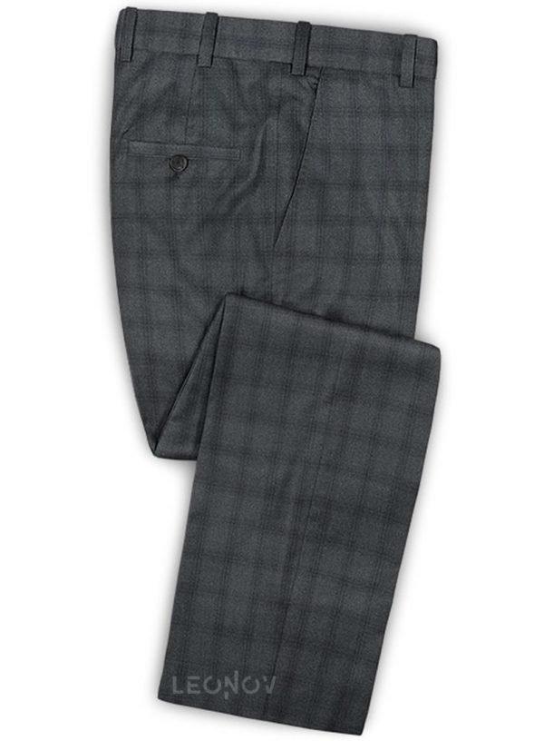 Бежевый пиджак в клетку из шерсти, льна и шелка – Solbiati