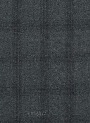 Серый костюм в темную клетку из шерсти