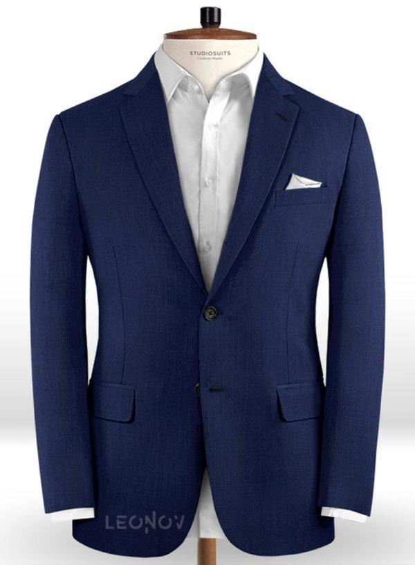 Пиджак цвета королевский синий из чистой шерсти – Reda
