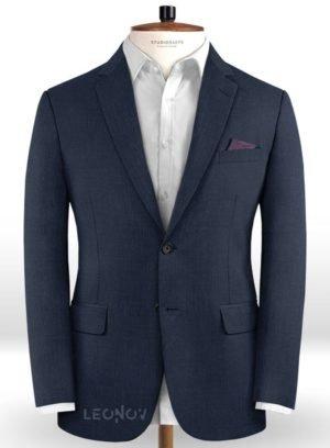 Пиджак цвета морской синий из чистой шерсти – Reda
