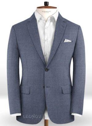 Пиджак цвета стальной синий из чистой шерсти – Reda