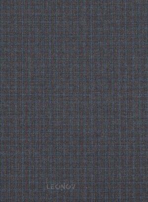 Серый костюм в мелкую синюю клетку из шерсти