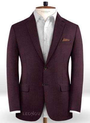 Пиджак винного цвета из чистой шерсти – Reda