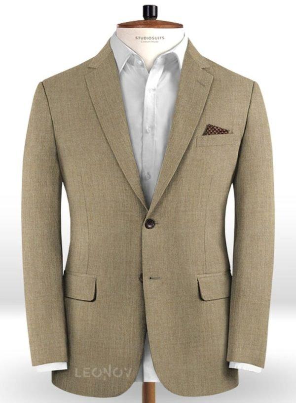 Бежевый пиджак из чистой камвольной шерсти – Reda