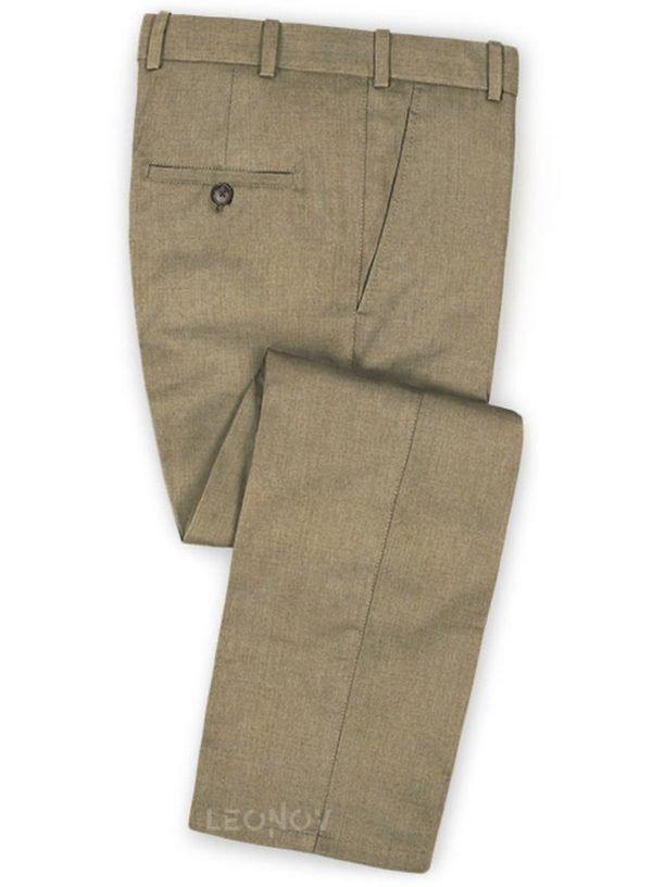 Бежевые брюки из чистой камвольной шерсти – Reda