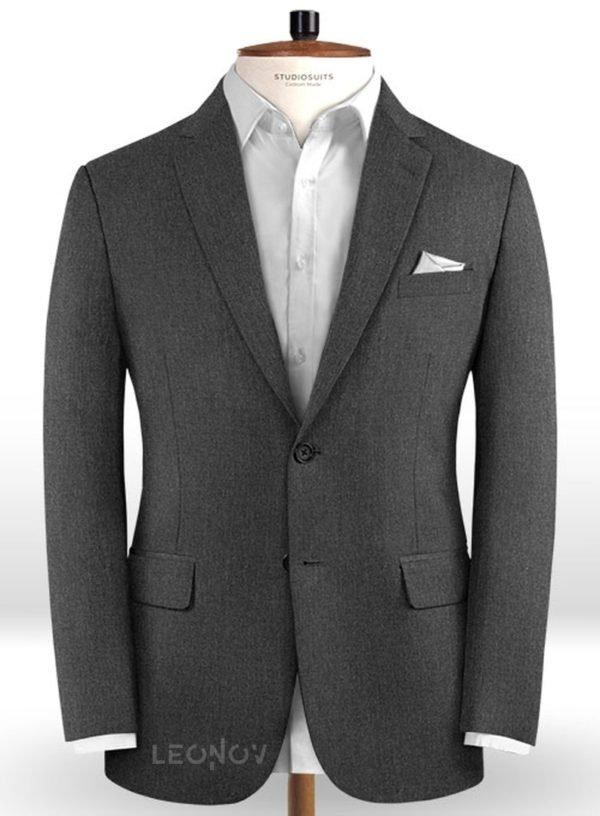 Темно-серый пиджак из чистой камвольной шерсти – Reda