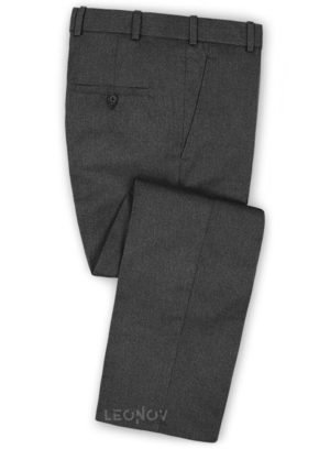 Темно-серые брюки из чистой камвольной шерсти – Reda