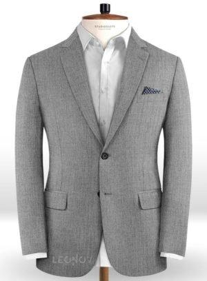 Пиджак средне серый из чистой камвольной шерсти – Reda