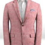 Летний розовый пиджак из льна – Solbiati