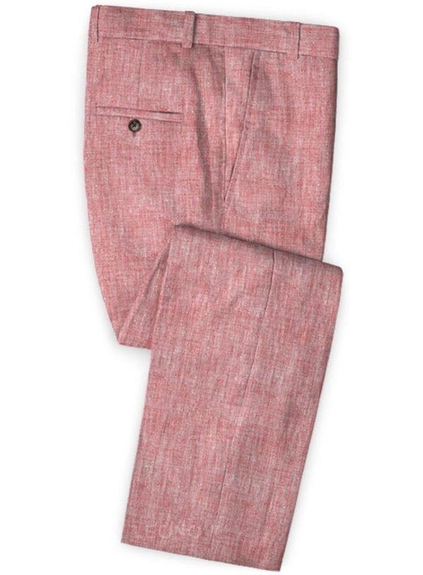 Летние розовые брюки из льна – Solbiati