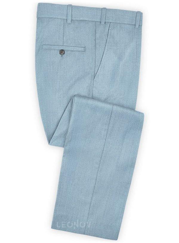 Брюки античный синий из шерсти