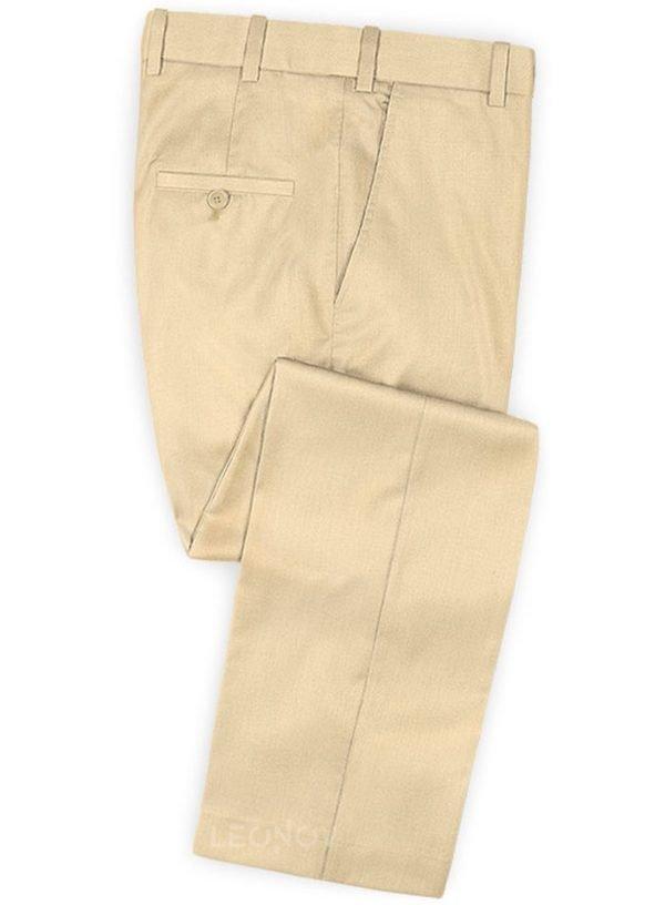 Бежевые брюки из шерсти – Scabal