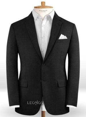 Классический черный пиджак из шерсти